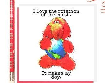 Jeffrey Elefanté   Greeting Card   Earth day   Puns   Funny Card   Elephant   Cute   Funny   Joke   Square Greeting Card