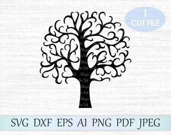 Cricut Tree Template