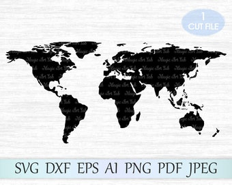 World map silhouette etsy world map svg world svg file world map clipart earth svg file continents cut file world cricut world silhouette earth map vector map gumiabroncs Choice Image