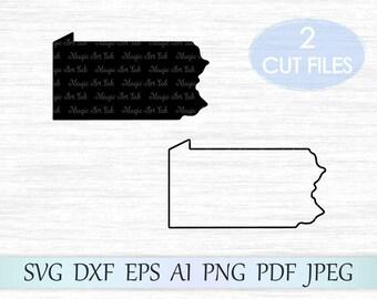 Distressed svg Pennsylvania Distressed SVG Pennsylvania vector Pennsylvania DXF svg dfx Digital Download Pennsylvania SVG Grunge svg
