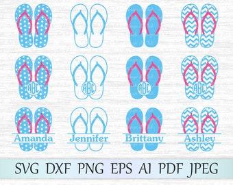 b268f8601536de Monogram flip flop