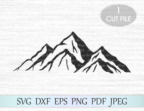 Mountain Svg Mountains Svg File Mountain Clipart Camping Etsy