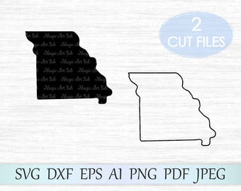 Missouri state svg, Missouri silhouette svg, Missouri vector, MO clipart, Missouri outline, Missouri svg, Missouri cricut cut file, MO svg