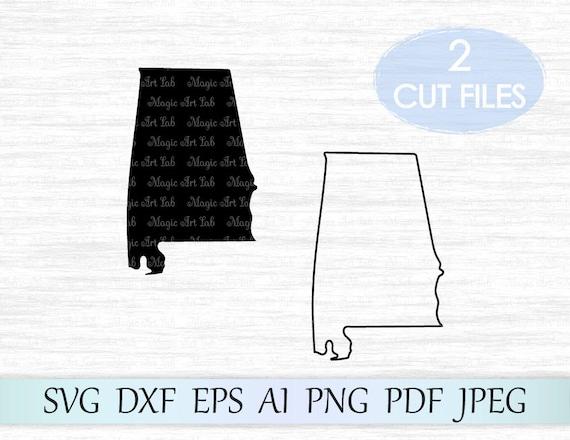 AL state svg Alabama svg Cricut downloads Alabama outline Files for Cricut Alabama state svg file Silhouette designs AL svg