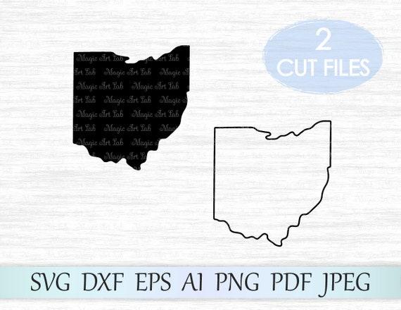 Ohio Svg File Ohio Silhouette Svg Ohio State Svg Ohio Etsy
