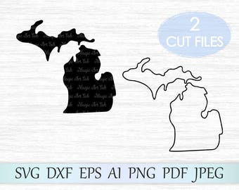 Michigan state svg, Michigan silhouette, Michigan vector, Michigan clipart, Michigan svg, Michigan cricut, Michigan cut file, MI svg file