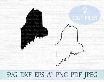 Maine svg, Maine state svg, Maine vector, Maine clipart, ME svg, Maine cut file, Maine clip art, ME vector, Maine silhouette, Maine cricut