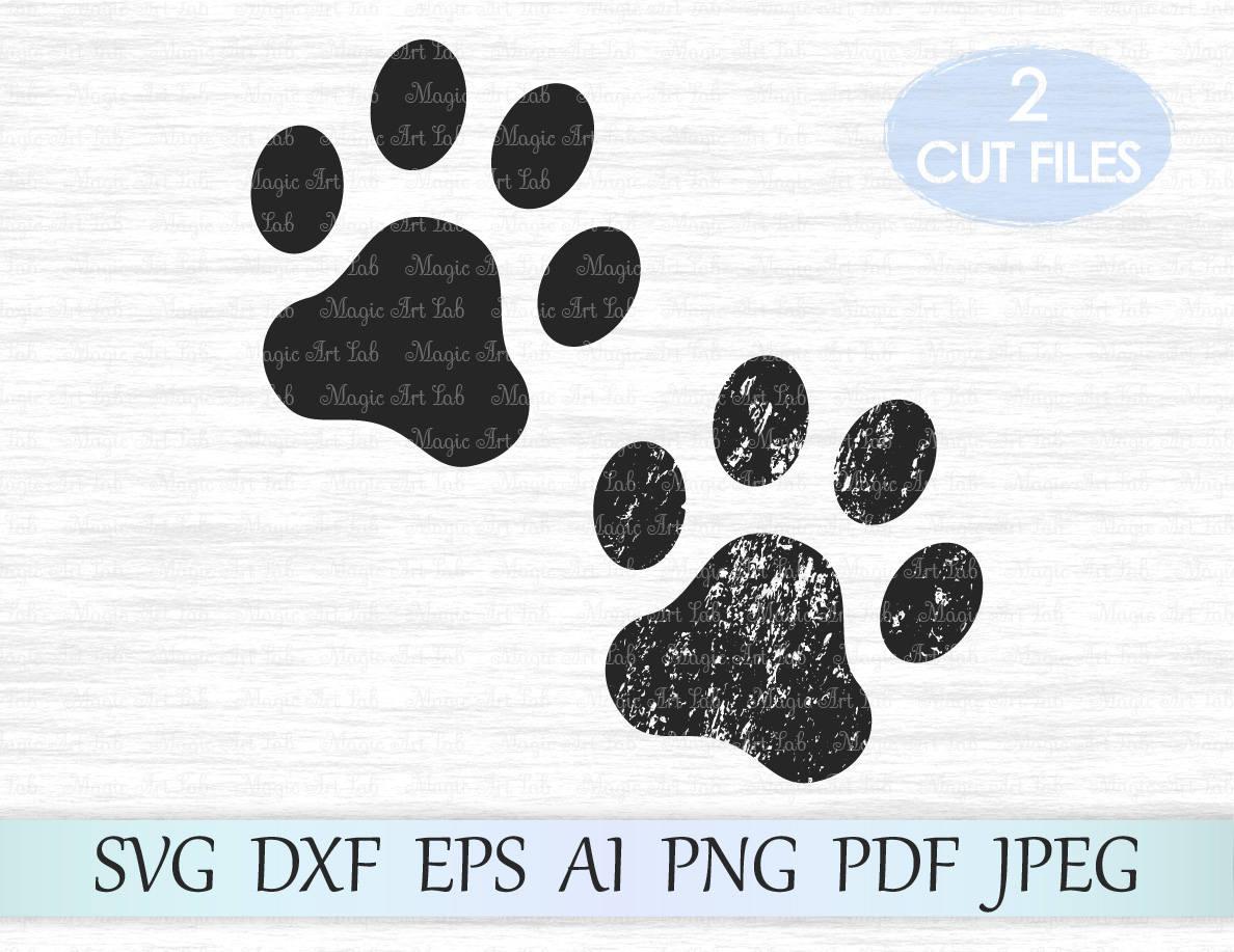 Pfote SVG Paw Svg-Datei Paw print Svg Hund Pfote   Etsy