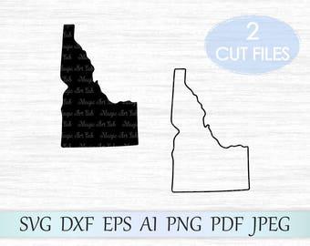 Idaho state svg, Idaho silhouette, Idaho svg, Idaho vector, Idaho clipart, ID vector, Idaho cricut, Idaho cut file, ID clip art, ID svg file