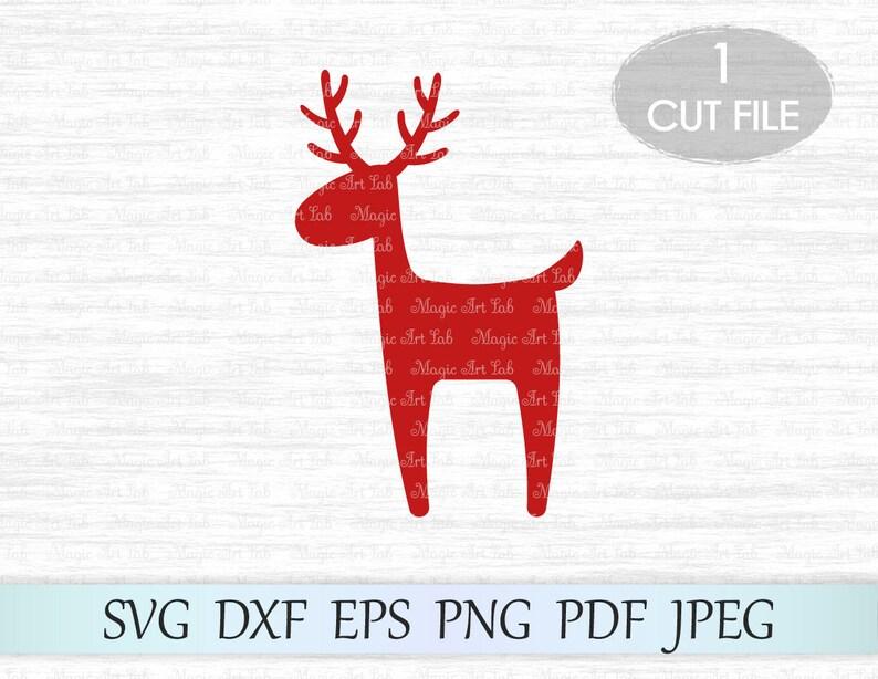 Reindeer Svg Deer Svg File Christmas Reindeer Svg Christmas Etsy