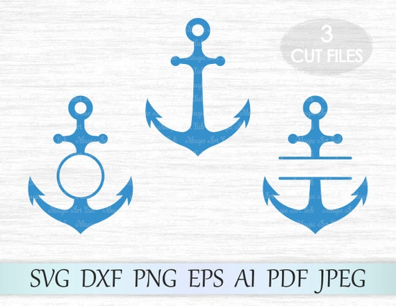 Anchor Svg Anchor Monogram Svg Anchor Frames Svg Anchor Etsy