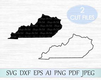 Kentucky state svg, Kentucky silhouette, Kentucky vector, Kentucky clipart, Kentucky svg, Kentucky cricut, Kentucky cut file, KY svg file