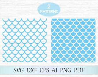 Mermaid seamless pattern, Mermaid pattern svg, Mermaid scale svg, Mermaid svg, Fish scale pattern, Scallop pattern, Mermaid pattern cricut