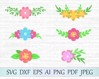 Flower svg file, Floral svg, Flower clipart, Flower vector, Flower cricut, Flower cut file, Flower silhouette, Floral Bouquets svg, Wedding
