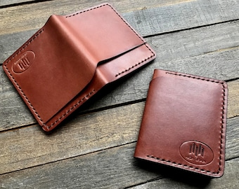 The Dreadnought. A Handmade Leather Bi-fold Wallet With a Minimalist Design.