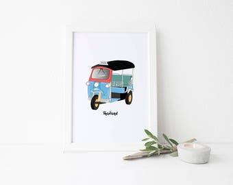 Model Autorickshaw Indian Tuk Tuk Auto Rickshaw Lapa Tuk-Tuk India Ornament