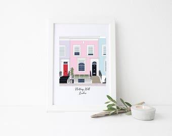London Travel Art Print - Notting Hill