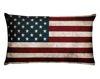 American Flag Pillow Etsy
