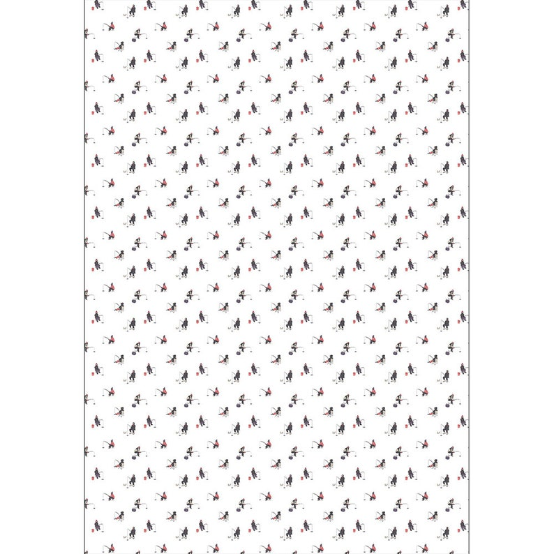 Ice Fishing Wrapping paper winter and holidays gift wrap