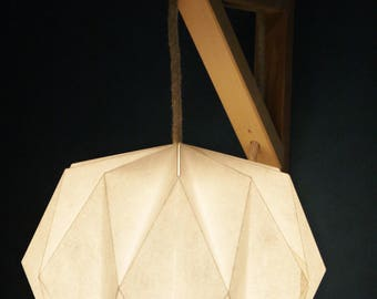 Hanging lamp in white paper