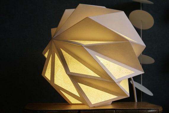 Weisse Lampe Papier Japanpapier Tischlampe Nachttischlampe Etsy