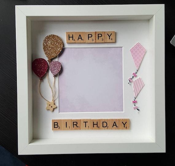 Happy Birthday Girl Box Frame handmade box frame birthday | Etsy