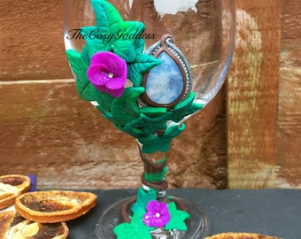 Moonstone Ivy Ritual Chalice/Goblet/Glass