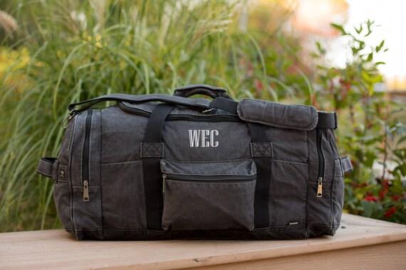 e848f5ecce7e Mens Weekender Bag Canvas Duffle Bag For Men Weekend Bag Mens