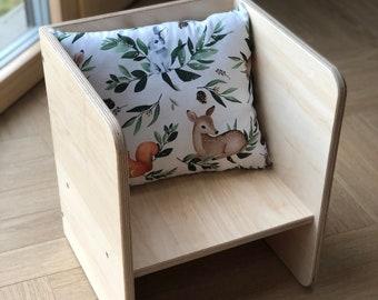 Mini/Maxi Chair - Toddler chair - Baby chair - Kids chair - Modern chair - Montessori chair - Plywood chair - Cube chair