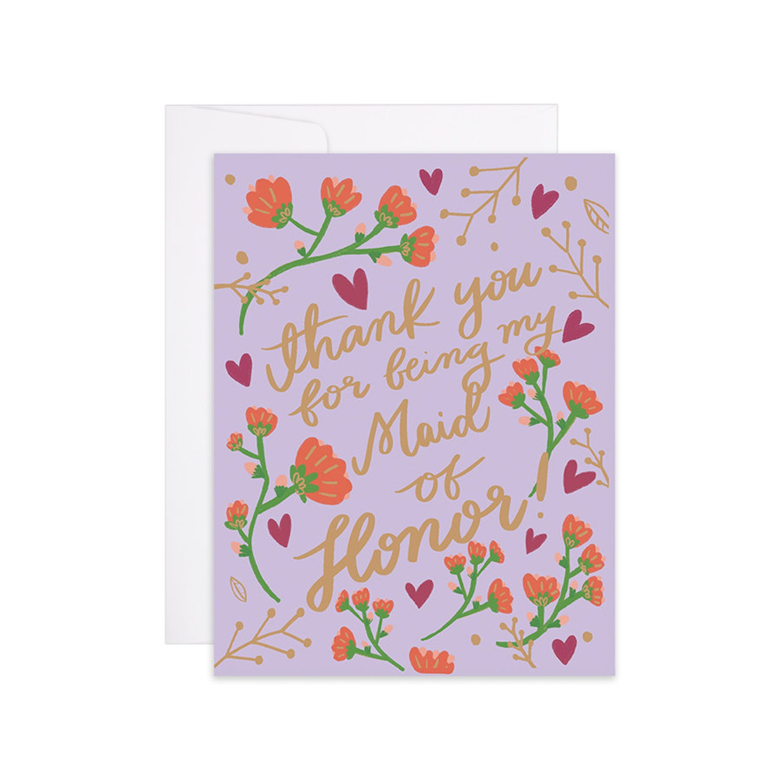 maid of honor card thank you for being my maid of honor  etsy
