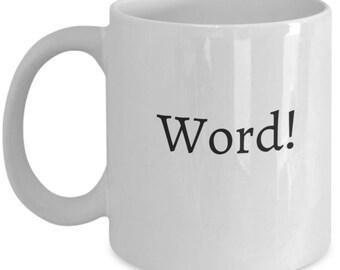 statement mug, mug with sayings, coworker mug, coworker gift, gifts for coworkers, secret santa gift, coworker gift exchange