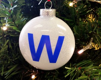 chicago wins w ornament free shipping - Chicago Christmas Ornament