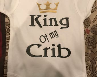 King of the Crib onesie
