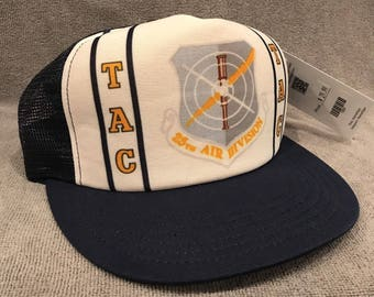 6d4402f97dfdd TAC 25th Air Division Tactical Air Command Vintage SnapBack Trucker Hat 1554