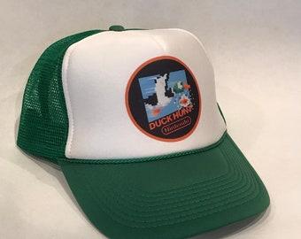 7b7f555689a Duck Hunt Super Nintendo Mario Game Trucker Hat Vintage Snapback Party Cap  Hunter Green