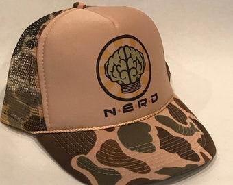 f7fae806 NERD Neptunes Trucker Hat! Vintage Snapback Cap! N*E*R*D Pharrell Camo