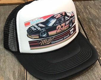 cc6647cd6d546 Miller Genuine Draft Beer Nascar Racing Team Rusty Wallace Trucker Hat Mesh  Nascar Sponsor Snapback Cap