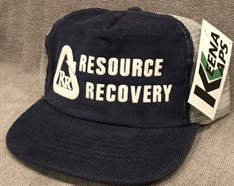 huge discount 5464d b2430 Resource Recovery Corduroy Trucker Hat SnapBack Recycling Spartan Group Cap  1473