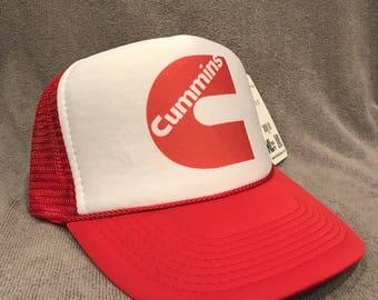 Cummins Diesel Trucker Hat Vintage Dodge Mesh Snapback Red Cap! 2195 81faa83fc340