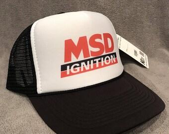7a34aeee39c MSD Performance Ignitions Trucker Hat Vintage Mesh Snapback Sponsor Cap!  2284