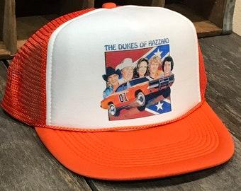 the best attitude d5852 da405 Dodge Charger Mopar Trucker Hat Vintage 70 s 80 s Mesh Cap Orange Dukes of  Hazard