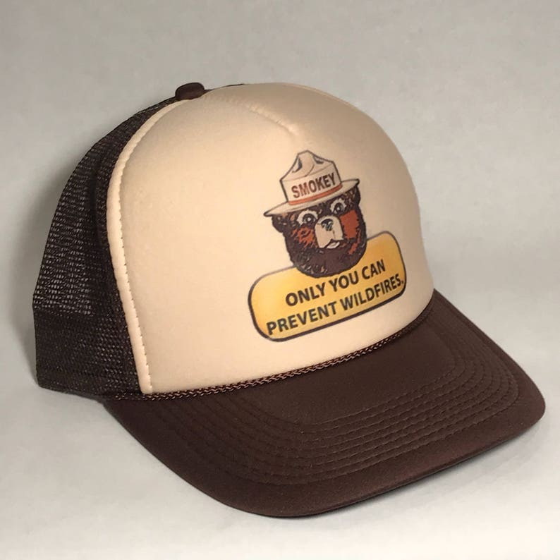 Smokey the Bear Trucker Hat Only You Can Prevent Forest Fires  246f0ab4e14