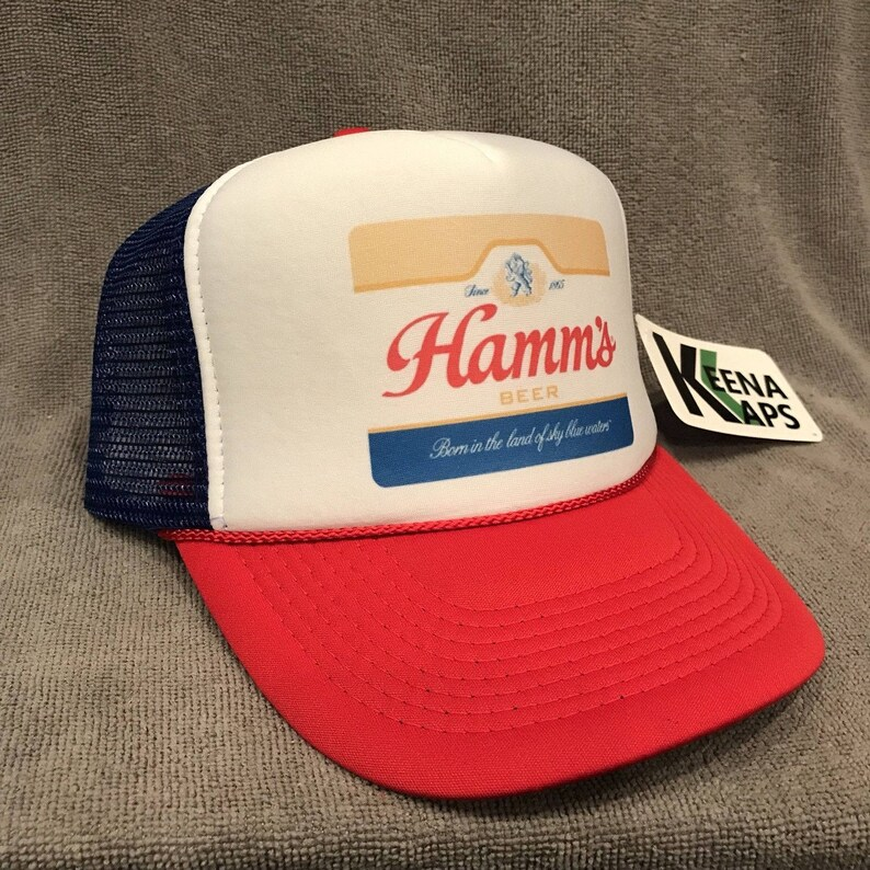 2845a1790bca1 Hamms Premium Beer Trucker Hat Vintage Snapback Party Bear