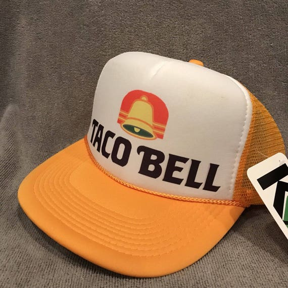 d224ce53402 Taco Bell Trucker Hat Restaurant Employee Vintage Mesh