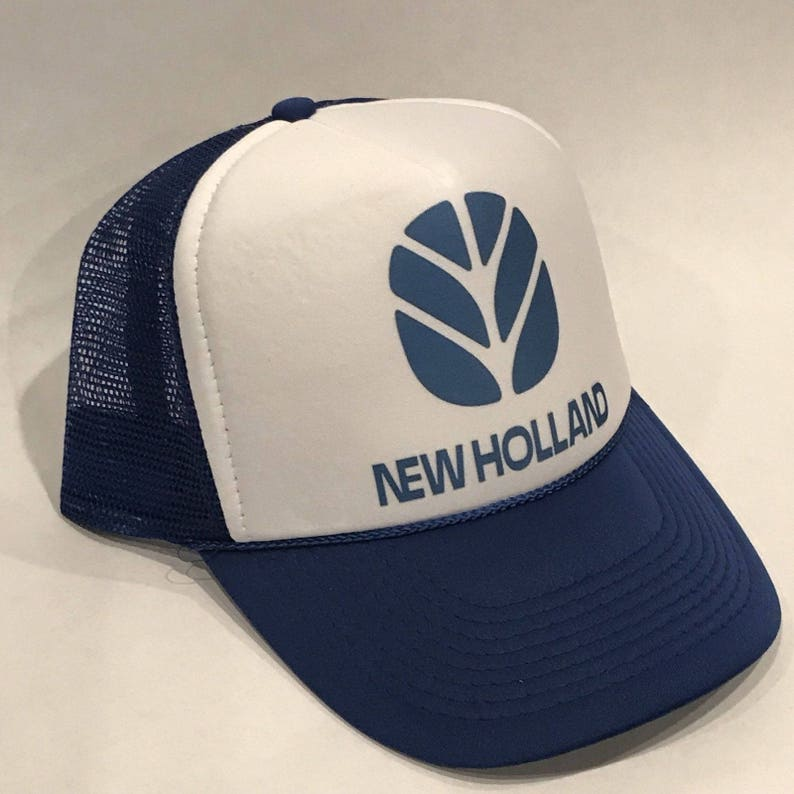 2bff138c66b Vintage New Holland Tractors Trucker Hat Agriculture Mesh Back