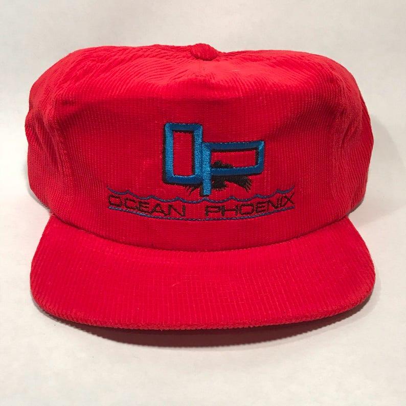 f14447201ebd8e Ocean Phoenix OP Corduroy Trucker Vintage Hat SnapBack Cap