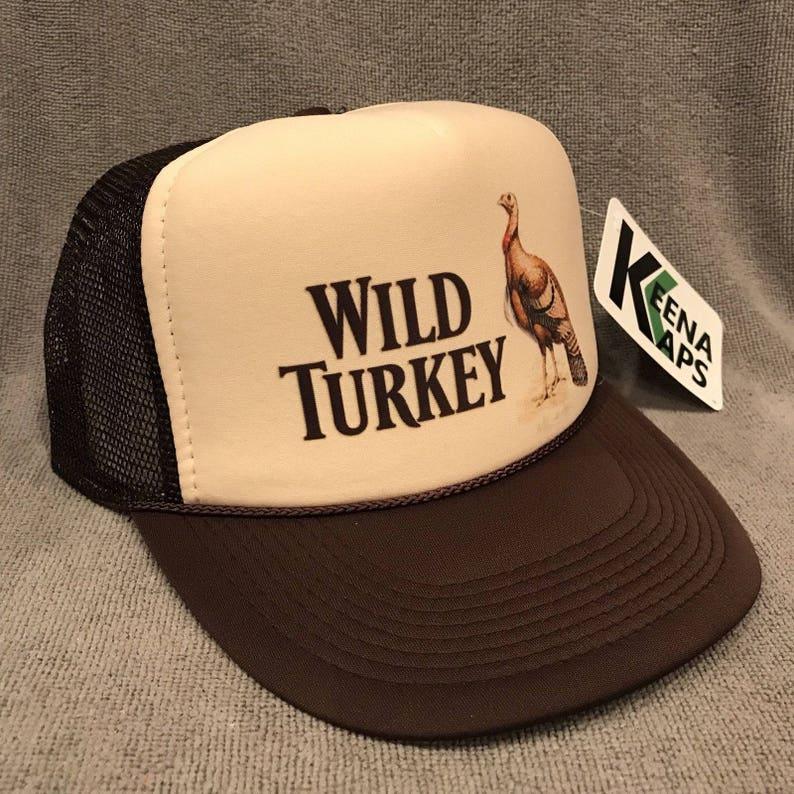 5fdf74a79e2cf Wild Turkey Whiskey Trucker Hat Vintage Snapback Cap Bourbon