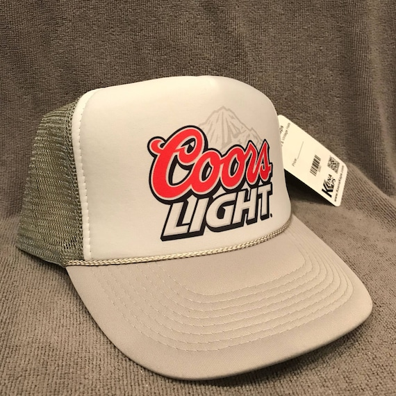 d0f8d3aa4aa Coors Light Beer Trucker Hat Born Rockies Vintage Promo Party