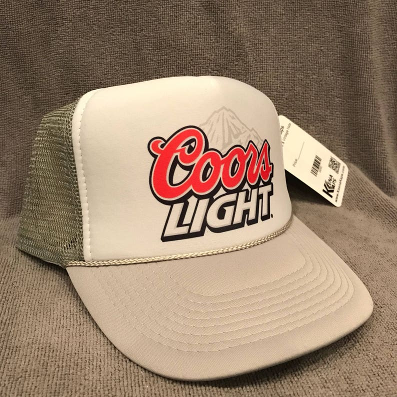 e619489a15144 Coors Light Beer Trucker Hat Born Rockies Vintage Promo Party