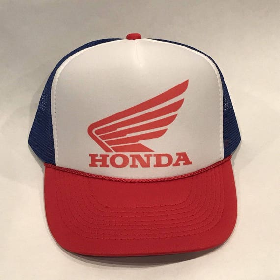 Honda Parts Sale Service Motorcycle Hat Racing Vintage Trucker Mesh Snapback Red